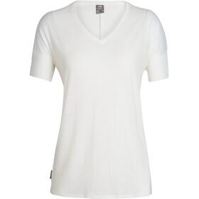 Icebreaker Elmnts Camiseta Interior Manga Corta Cuello en V Mujer, enamel heather
